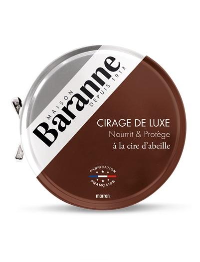boite cirage marron